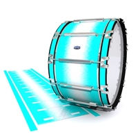 Dynasty Custom Elite Bass Drum Slip - Aqua Wake (Aqua)