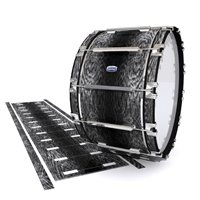Dynasty Custom Elite Bass Drum Slip - Ashy Grey Rosewood (Neutral)