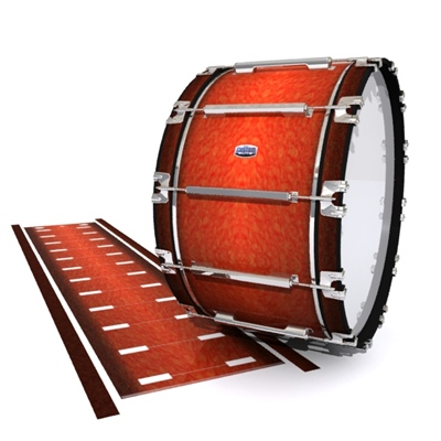 Dynasty Custom Elite Bass Drum Slip - Autumn Fade (Orange)