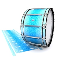 Dynasty Custom Elite Bass Drum Slip - Blue Ice (Blue)