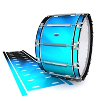 Dynasty Custom Elite Bass Drum Slip - Blue Light Rays (Themed)