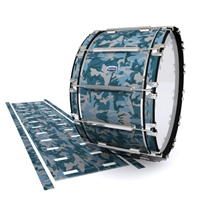 Dynasty Custom Elite Bass Drum Slip - Blue Slate Traditional Camouflage (Blue)