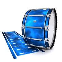 Dynasty Custom Elite Bass Drum Slip - Blue Smokey Clouds (Themed)