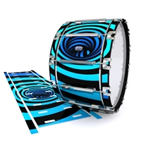 Dynasty Custom Elite Bass Drum Slip - Blue Vortex Illusion (Themed)