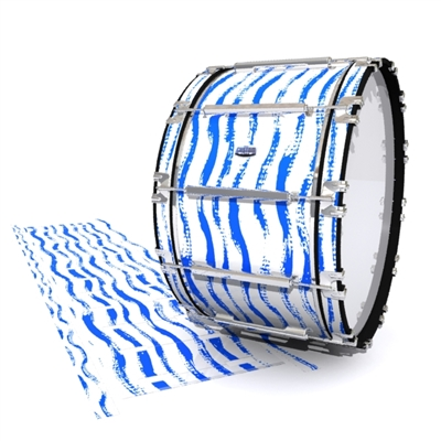 Dynasty Custom Elite Bass Drum Slip - Wave Brush Strokes Blue and White (Blue)