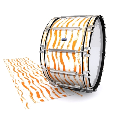 Dynasty Custom Elite Bass Drum Slip - Wave Brush Strokes Orange and White (Orange)