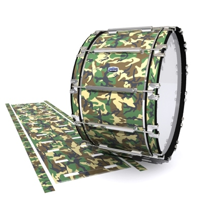 Dynasty Custom Elite Bass Drum Slip - Woodland Traditional Camouflage (Neutral)