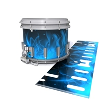 Dynasty DFX 1st Gen. Snare Drum Slip   - Blue Flames (Themed)