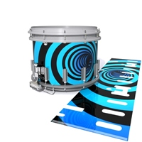 Dynasty DFX 1st Gen. Snare Drum Slip  - Blue Vortex Illusion (Themed)