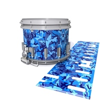 Dynasty DFX 1st Gen. Snare Drum Slip  - Blue Wing Traditional Camouflage (Blue)