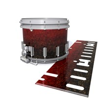 Dynasty DFX 1st Gen. Snare Drum Slip  - Burgundy Rock (Red)