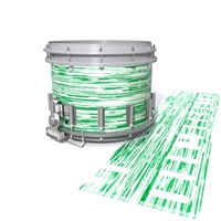 Dynasty DFX 1st Gen. Snare Drum Slip  - Chaos Brush Strokes Green and White (Green)