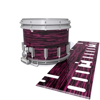 Dynasty DFX 1st Gen. Snare Drum Slip  - Chaos Brush Strokes Maroon and Black (Red)
