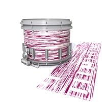 Dynasty DFX 1st Gen. Snare Drum Slip  - Chaos Brush Strokes Maroon and White (Red)