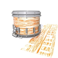 Dynasty DFX 1st Gen. Snare Drum Slip  - Chaos Brush Strokes Orange and White (Orange)