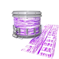 Dynasty DFX 1st Gen. Snare Drum Slip  - Chaos Brush Strokes Purple and White (Purple)
