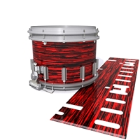 Dynasty DFX 1st Gen. Snare Drum Slip  - Chaos Brush Strokes Red and Black (Red)