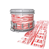 Dynasty DFX 1st Gen. Snare Drum Slip  - Chaos Brush Strokes Red and White (Red)
