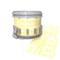 Dynasty DFX 1st Gen. Snare Drum Slip  - Chaos Brush Strokes Yellow and White (Yellow)