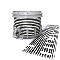 Dynasty DFX 1st Gen. Snare Drum Slip  - Lateral Brush Strokes Black and White (Neutral)