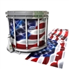 Dynasty Custom Elite Snare Drum Slip - Stylized American Flag