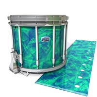 Dynasty Custom Elite Snare Drum Slip - Aqua Cosmic Glass (Aqua)