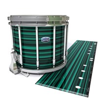 Dynasty Custom Elite Snare Drum Slip - Aqua Horizon Stripes (Aqua)