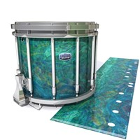 Dynasty Custom Elite Snare Drum Slip - Aquamarine Blue Pearl (Aqua)