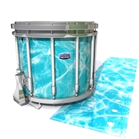 Dynasty Custom Elite Snare Drum Slip - Aquatic Refraction (Themed)