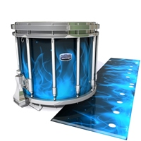 Dynasty Custom Elite Snare Drum Slip - Blue Flames (Themed)