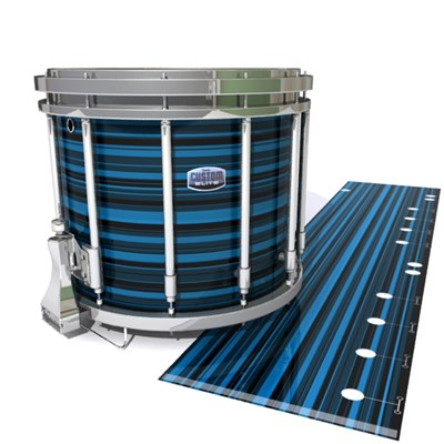 Dynasty Custom Elite Snare Drum Slip - Blue Horizon Stripes (Blue)