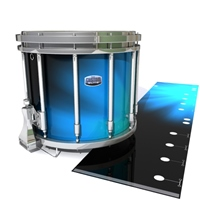 Dynasty Custom Elite Snare Drum Slip - Blue Light Rays (Themed)