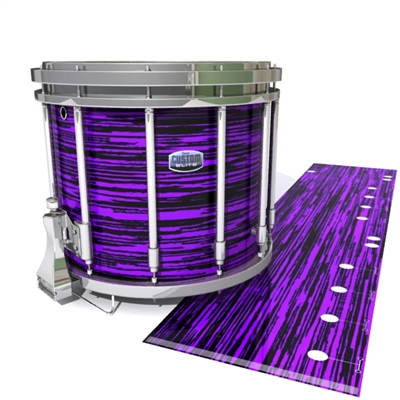 Dynasty Custom Elite Snare Drum Slip - Chaos Brush Strokes Purple and Black (Purple)