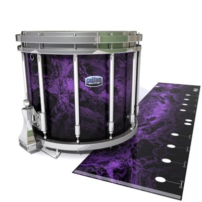 Dynasty Custom Elite Snare Drum Slip - Coast GEO Marble Fade (Purple)