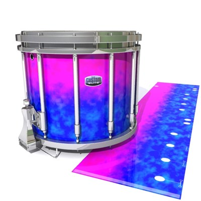 Dynasty Custom Elite Snare Drum Slip - Cotton Candy (Blue) (Pink)