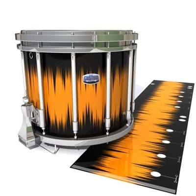 Dynasty Custom Elite Snare Drum Slip - Daybreak (Orange)