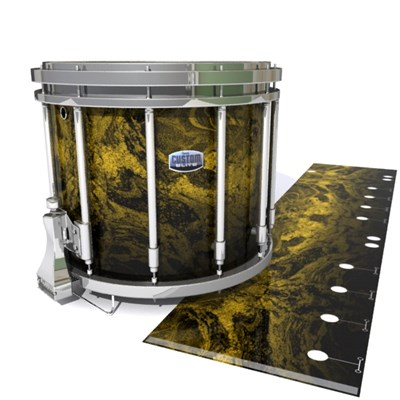 Dynasty Custom Elite Snare Drum Slip - Desert GEO Marble Fade (Yellow)