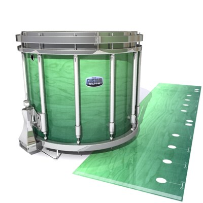 Dynasty Custom Elite Snare Drum Slip - Elusive Green Fade (Green)