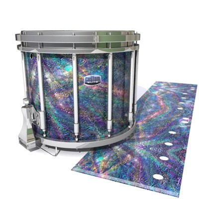 Dynasty Custom Elite Snare Drum Slip - Fairy Tale Fade (Aqua)