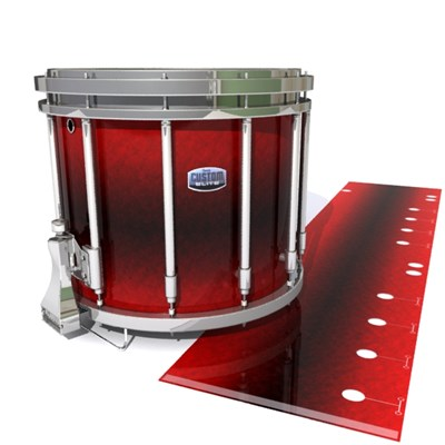 Dynasty Custom Elite Snare Drum Slip - Firestorm (Red)