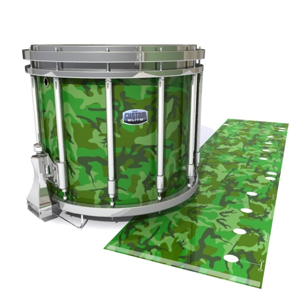 Dynasty Custom Elite Snare Drum Slip - Forest Traditional Camouflage (Green)