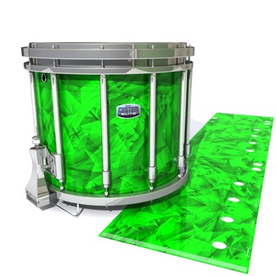 Dynasty Custom Elite Snare Drum Slip - Green Cosmic Glass (Green)