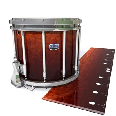 Dynasty Custom Elite Snare Drum Slip - Hot Lava (Orange)