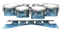 Dynasty 1st Generation Tenor Drum Slips - Aeriform (Blue)
