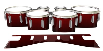 Dynasty 1st Generation Tenor Drum Slips - Apple Maple Fade (Red)