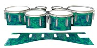 Dynasty 1st Generation Tenor Drum Slips - Aqua Cosmic Glass (Aqua)