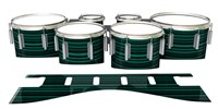Dynasty 1st Generation Tenor Drum Slips - Aqua Horizon Stripes (Aqua)