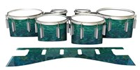 Dynasty 1st Generation Tenor Drum Slips - Aquamarine Blue Pearl (Aqua)
