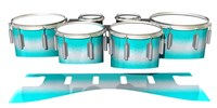 Dynasty 1st Generation Tenor Drum Slips - Aqua Wake (Aqua)