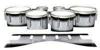 Dynasty 1st Generation Tenor Drum Slips - Black Magic Fade (Neutral)